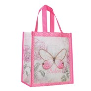 Believe, Butterfly Tote Bag