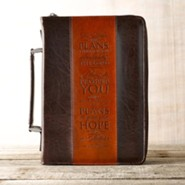 I Know the Plans Bible Cover, Brown, Large