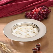 Stacking Bread Plate, Silver Finish