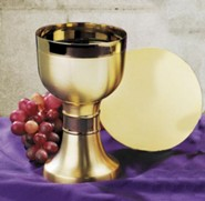 Contemporary Chalice with Paten Set