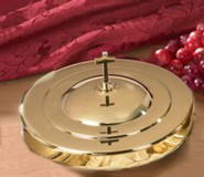 Stacking Bread Plate Cover, Brass Finish