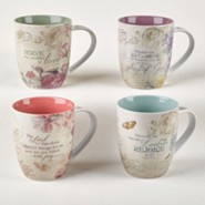 Floral Inspirations Mug Gift Set, 4 Pieces