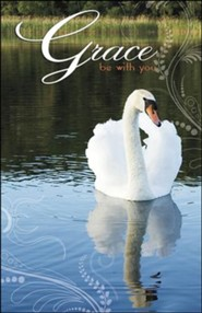 Grace Be With You Swan (2 Timothy 4:22) Bulletins, 100