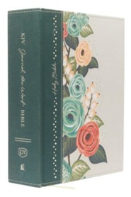 Hardcover Green Large Print Floral