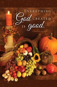 Thanksgiving (1 Timothy 4:4, NIV) Bulletins, 100