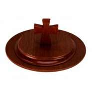 Dark Walnut Finish Hardwood Bread Plate Cover