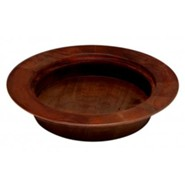 Dark Walnut Finish Hardwood Stackable Bread Plate