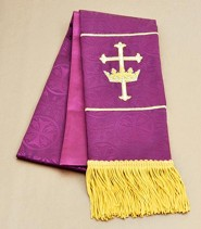 Maltese Jacquard Bookmark, Purple