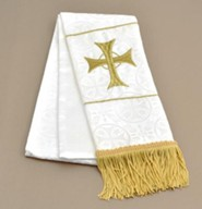 Maltese Jacquard Bookmark, White