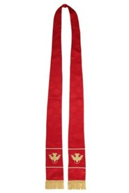 Maltese Jacquard Stole, Red