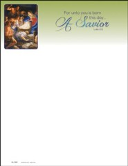 Born a Savior (Luke 2:11) Letterhead, 100
