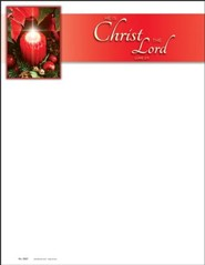 Christ the Lord (Luke 2:11) Letterhead, 100
