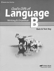 Abeka God's Gift of Language B Quizzes & Tests Key