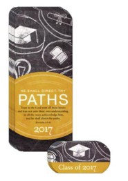 He Shall Direct Thy Paths, Pack of 12 Graduation Truth Tags (Proverbs 3:5-6)