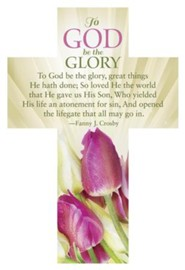 To God Be The Glory Cross Design Bookmarks, 25