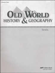 Abeka Old World History & Geography Tests
