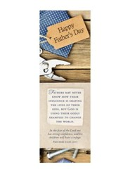 Father's Day Bookmark:  Happy Father's Day  (Proverbs 14:26, ESV) - Pack of 25