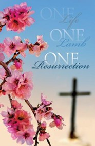 One Life One Lamb One Resurrection Bulletins, Pack of 50