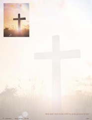 What Shall I Return to the Lord Sunrise Cross (Psalm 116:12, NIV) Letterhead, 100