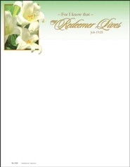 My Redeemer Lives (Job 19:25) Letterhead, 100
