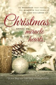 Christmas Shines Its Miracle (Matthew 28:17) Bulletins, 100