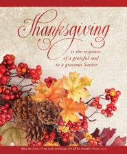 Thanksgiving is the Response (Psalm 103:2, KJV) Large Bulletins, 100