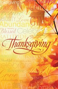 Words of Thanksgiving Bulletins, 50