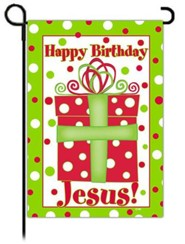 Happy Birthday Jesus Flag, Small
