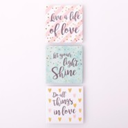 Live A Life of Love Magnets, Set of 3