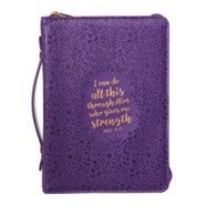 I Can Do All This Through Him, Bible Cover, Medium, Purple