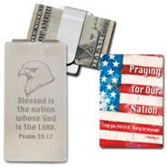 Blessed is the Nation Whose God is the Lord Stainless Steel Money Clip