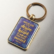 May He Give You the Desire Of Your Heart Keyring