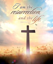 I Am the Resurrection Cross (John 11:25, KJV) Large Bulletins, 100