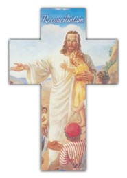 Jesus with the Children Cross Bookmarks, pack of 25
