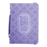 Trust In the Lord Bible Cover, Purple, Large