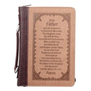 The Lord's Prayer Bible Cover, Medium