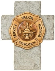 A Firefighter's Prayer Mini Cross