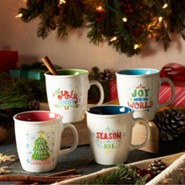 Christmas, Season of Joy Mugs, Set of 4