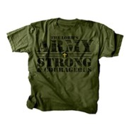 The Lord's Army Shirt, Green, Youth Large