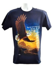 Eagle, They That Wait Upon the Lord, Shirt, Navy, XX-Large