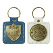 Mr./Mrs., Lux Leather Keyrings, Set of 2