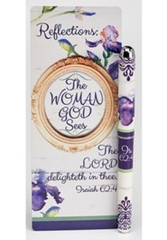 The Woman God Sees, Pen and Jumbo Bookmark Gift Set, KJV