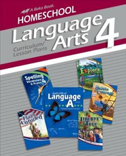 Abeka Homeschool Language Arts 4 Curriculum/Lesson Plans