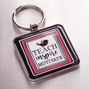 Teach Inspire Motivate Keyring