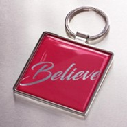 Believe Keyring, Red