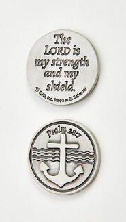 The Lord is My Strength and Shield Pocket Token and Card