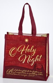 O Holy Night Laminated Tote Bag