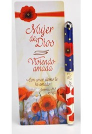 Viviendo Amada, Lapicero y Marcador de libro Jumbo  (Living Loved, Pen & Jumbo Bookmark Set)