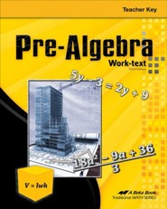 Abeka Pre-Algebra Teacher Key, Third Edition