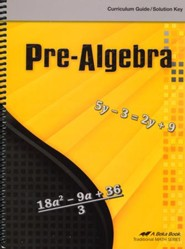Abeka Pre-Algebra Curriculum Guide/Solution Key